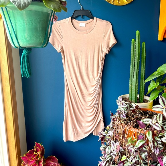 Tan cream tee dress